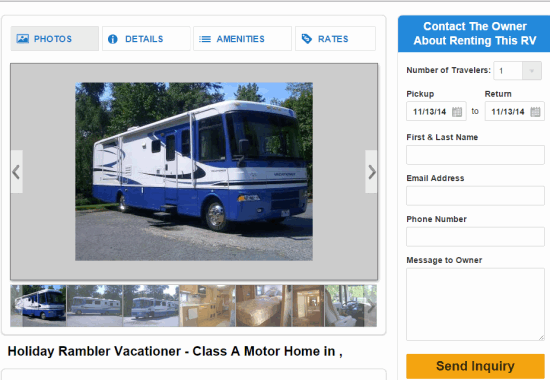 RVShare- free website for rv rentals