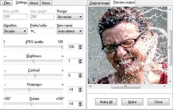 Easy Thumbnails Image Settings