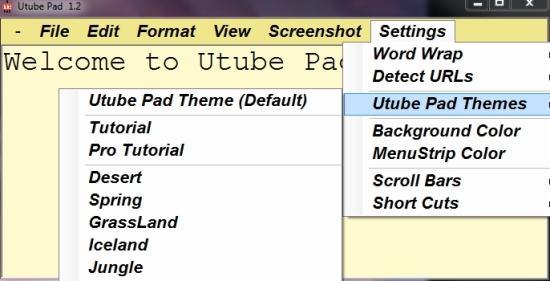 Utube Pad Custom Theme