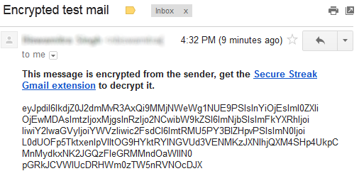 SecureGmail Encrypted Mail