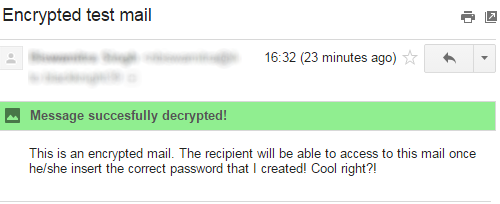 SecureGmail Decrypted Mail
