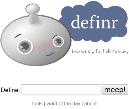 Definr Homepage