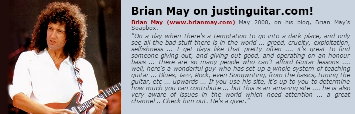 Brian May on Justinguitar