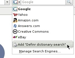Definr Firefox Search Engine Extension
