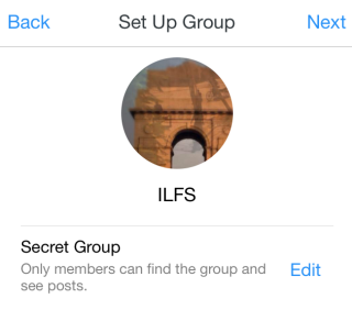 Set Group Name and Photo