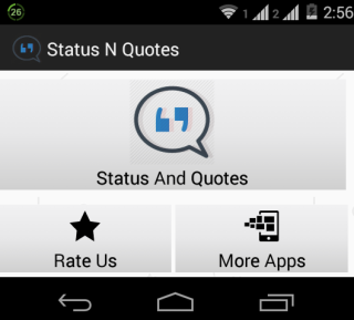 Status and Quotes Home Screen