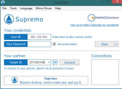 Supremo- free desktop remote connection software