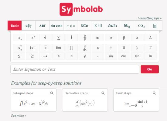 Symbolab Homepage