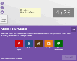Tab for a Cause- customize Chrome new tab and collect points for charity