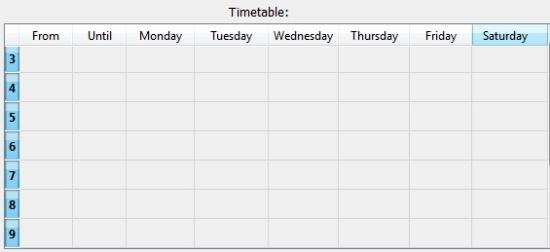 qOrganizer Weekly Timetable