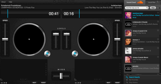 Until AM- online DJ Mixer with virtual turntables