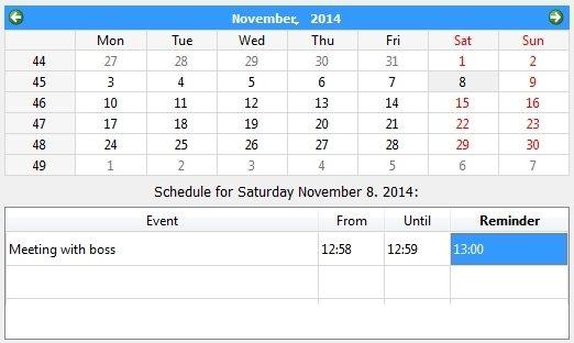 qOrganizer Calender and Scheduler