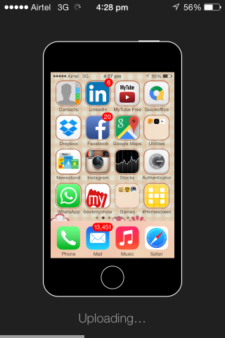 Uploading the Screenshot