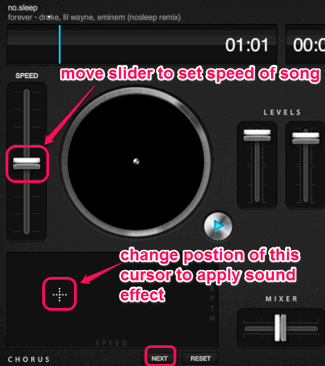 add sound effect to songs