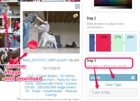 add tags and preview image to download