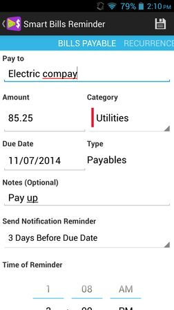 bill reminder apps for android 4