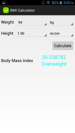 bmi calculator apps for android 3