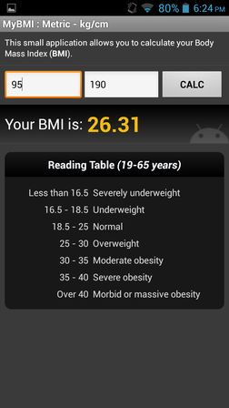 bmi calculator apps for android 4