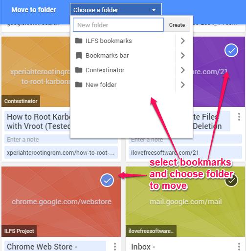 bulk move bookmarks