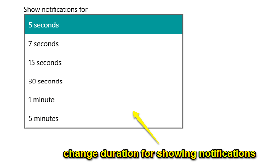 change duration for notifications