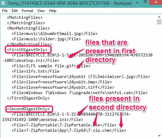 compare directories on different computers