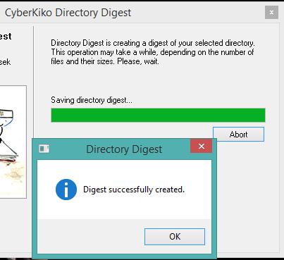 digest file created