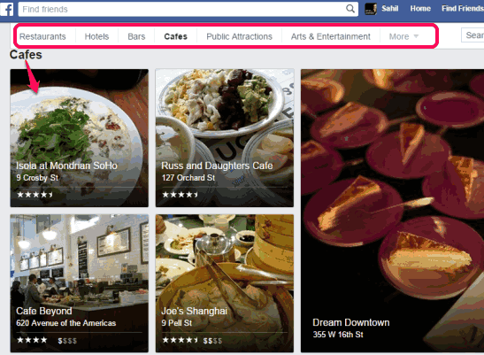 find places with Facebook's new places directory