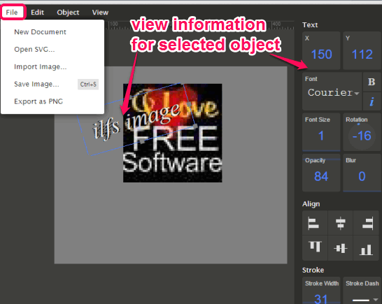 import SVG file and edit the objects