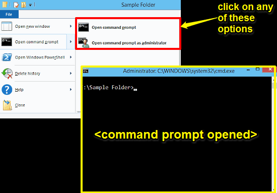open command prompt from any folder