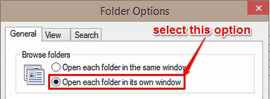 open each folder in own window