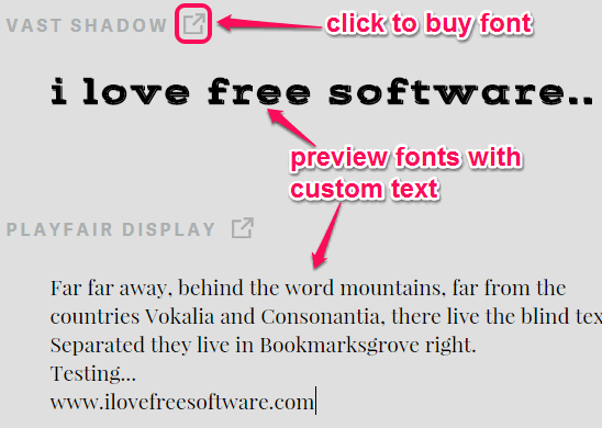 preview fonts with custom text