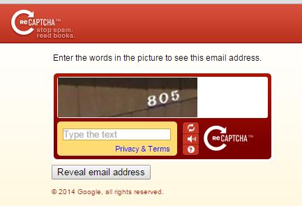 reCAPTCHA Mailhide