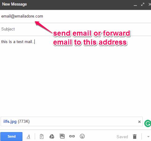 send or forward an email