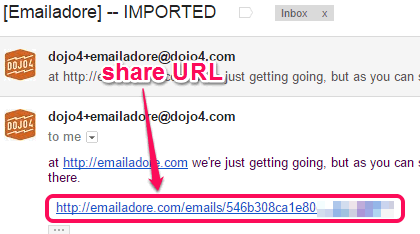 share email URL