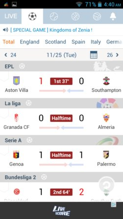 soccer news and live score apps android 5