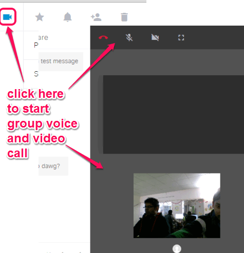 start group voice and video call