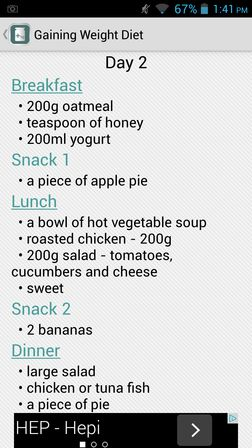 weight gain apps for Android 1