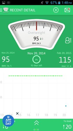 weight gain apps for Android 2