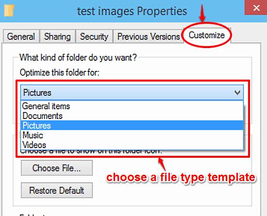 windows 10 apply folder template