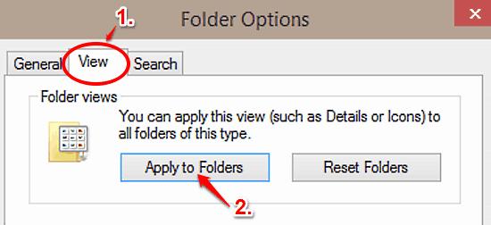 windows 10 apply folder view
