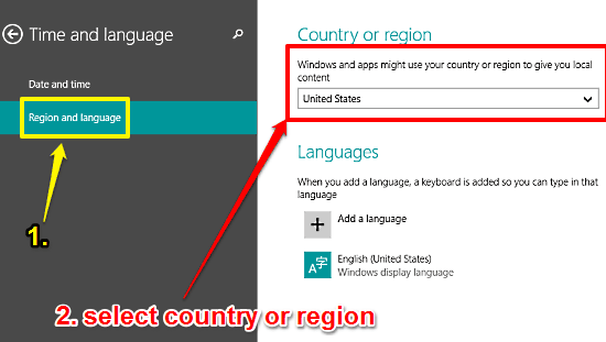 How To Change Country Or Region In Windows 10