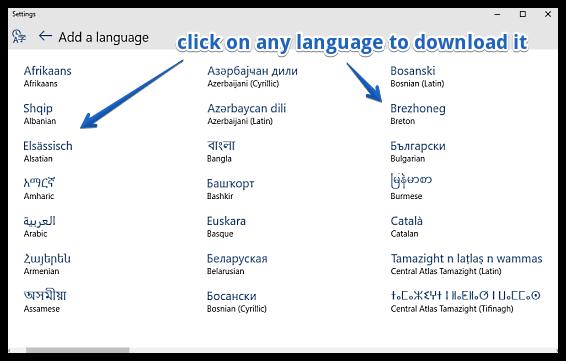 windows 10 download language1