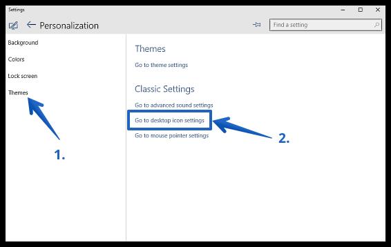 windows 10 go to desktop icon settings
