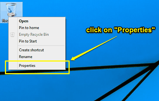 windows 10 recycle bin context menu