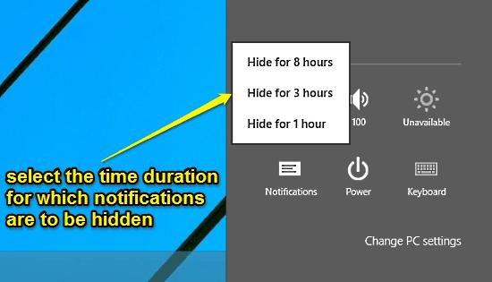 windows 10 temporarily hide notifications
