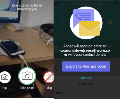 Add Photo and Export to Phonebook