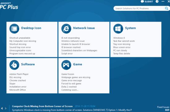 Anvisoft PC Plus- auto fix PC problems with few mouse clicks
