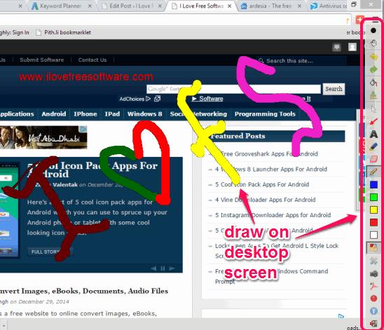 Ardesia- draw on desktop screen