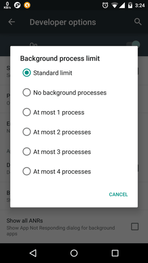 Background Process Limit