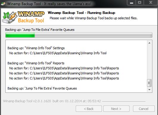 Backup in Progress